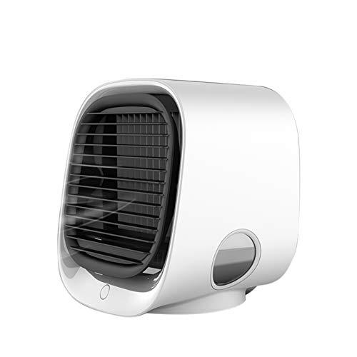 Duomu Mini Ventilador Humidificador de Escritorio Portátil Ventilador Multifuncional Silencioso para Hogar y Oficina
