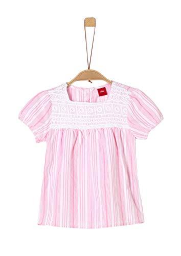 s.Oliver Junior Mädchen 403.12.005.10.100.2036975 Bluse, pink Stripes, 104/110 REG