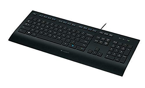 Logitech K280e Pro Wired Business Keyboard for Windows/Linux/Chrome, USB Plug-and-Play, Discreet Input, Standard Size, Splash-Proof, French AZERTY Keyboard - Black