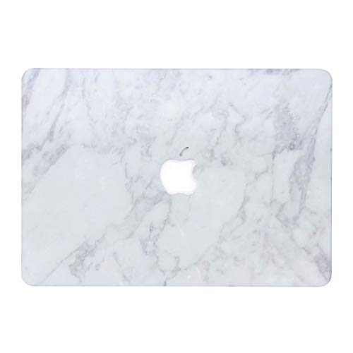 AQYLQ MacBook Schutzhülle/Hard Case Cover Laptop Hülle [Für MacBook Air 13 Zoll: A1369/A1466], Ultradünne Matt Plastik Hartschale Schutzhülle, DLB weißer Marmor