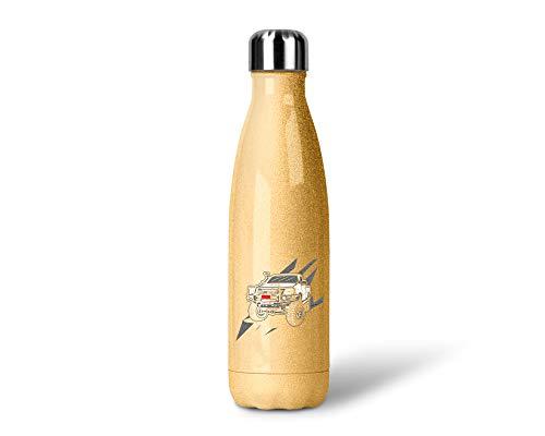 SPIRITSHIRTSHOP Range Rover | Glitzerflasche Trinkflasche Thermoflasche Glitzer Geschenk aus Edelstahl | 500 ml