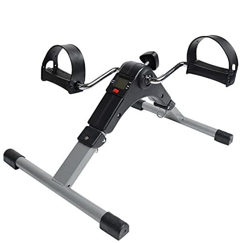 Bicicleta de ejercicio con pedal para debajo del escritorio, mini bicicleta estática magnética para ejercicios de brazos / piernas, bicicleta con pedal de escritorio para entrenamiento en el hogar /