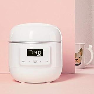 Zcm Estufa eléctrica Eléctrica Olla de cocción Lenta Mini automático de cocción de Reparto Pot Gachas de Sopa de Agua de cocción de cerámica 0.8L Suplemento Liner bebé Pot (Color : White)