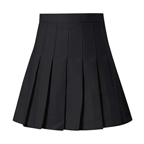 N\P Mujeres de cintura alta plisada faldas nias tenis escuela blanco