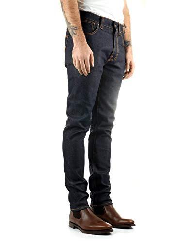 NUDIE JEANS Herren Slim Fit Slim Jeans Lean Dean, Blu (Dry 16 Dips), W38/L32