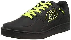 O'NEAL | Fahrrad-Schuh | Mountainbike MTB DH FR Downhill Freeride | Gleichgewicht zwischen Grip und Fußpositionierung, Waben-Sohle | Pinned Flat Pedal Shoe | Erwachsene | Schwarz Neon-Gelb | Größe 43