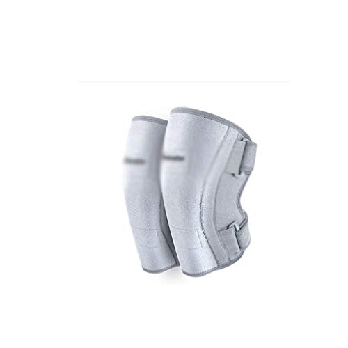 Jueven Elektro-Heizung Knieschützer um warm zu halten alte Beine Selbsterhitzung Gelenke Winter-Kälte-Gamaschen (Color : Gray)