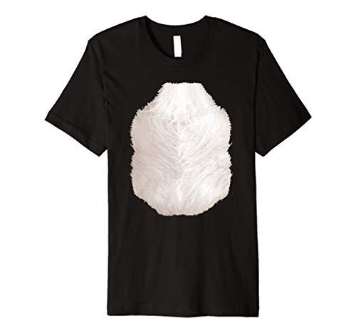 Halloween Tier Kostüm Skunk TShirt Funny Brust Haar Bauch