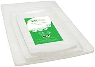 Variety Pack of 150 Pre-Cut Vacuum Seal Food Storage Bags (50 Each - Pint, Quart, and Gallon). For use in all home vacuum sealing systems including FoodSaver. By EZVac. Great for Sous Vide.