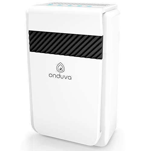 Luftreiniger für Wohnung Ionisator 5-in-1 Onduva® CADR 218m³ (40m² XXL) - 99,97{ff2cc395ac73bf5c51e03af2f36bcfa86158adcad1b852160b10aa7b9639d0aa} Filterleistung - HEPA-Filter - Aktivkohlefilter - Kalt-Katalysator - Lufterfrischer mit 3 Geschwindigkeitsstufen