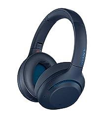 commercial Sony WHXB900N Noise Canceling Headphones, Wireless Bluetooth Headphones Headset – Blue (Amazon… sony audiophile headphones