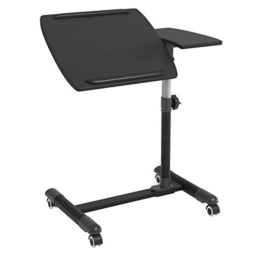 Computer Workstations Mobile Portable Laptop Desk with Mouse Board Lazy Table Stand Lap Sofa Bed PC Notebook Desk Solid and Superior Stability Adjustable Height 58-88cm Portable Table