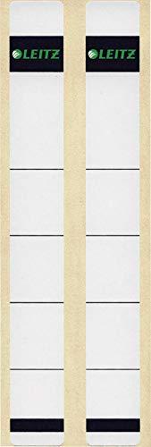 Leitz Rückenschild selbstklebend für Standard- und Hartpappe-Ordner, 10 Stück, 50 mm Rückenbreite, Kurzes und schmales Format, 23 x 192 mm, Papier, grau, 16460085