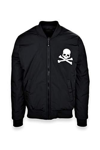 PHILIPP PLEIN Skull Black Herrenjacke, PHILIPP PLEIN Skull Black, Schwarz, PHILIPP PLEIN Skull Black L