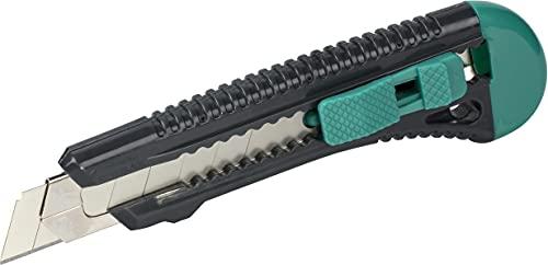 wolfcraft Cúter de cuchillas separables estándar de 18mm, 4146000, Cúter de plástico con guía metálica