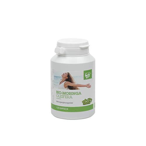 Moringa Oleifera Premium Bio Kapseln 120 Stück der perfekte Begleiter für Unterwegs VEGAN - 100% BIO MORINGA - OHNE ZUSATZSTOFFE