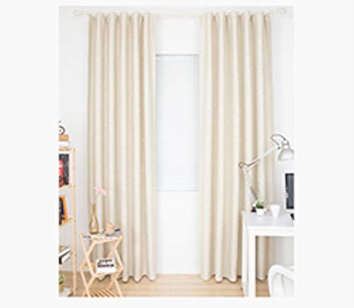 cortinas salon beige modernas