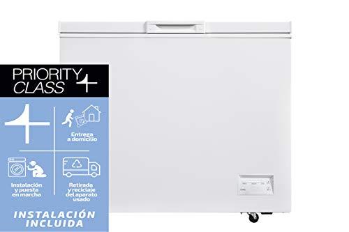 Sauber - Congelador Horizontal SCHD-316 - Función DUAL - Eficiencia energética: A+ - Ancho: 112 cm - 316 litros - Color Blanco