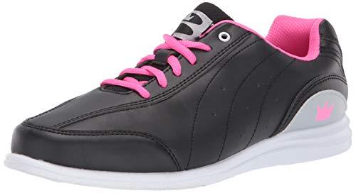 Brunswick Mystic Bowling-Schuhe für Damen, Schwarz/Pink, 6 1/2, 6,5