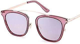 AQWESD - Gafas polarizadas, Gafas de Sol cuadradas graduadas Sunglass Fashion Fashion para Mujeres/Hombres, Gafas de Sol polarizadas con Montura de Acero Inoxidable