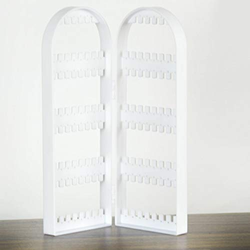 Joyería creativa pantalla plegable pendiente soporte soporte estante pulsera plástico transparente organizador collar exhibición