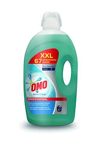Omo Professional 100857366 Active Clean Flüssigwaschmittel, für 67 Wäschen