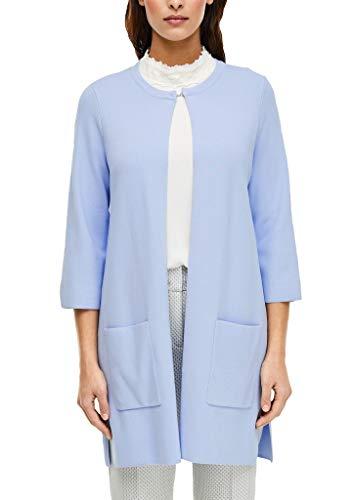 s.Oliver BLACK LABEL Damen Long-Cardigan im cleanen Look light blue 40