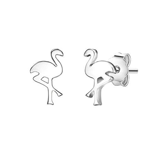 Glanzstücke München Damen-Ohrstecker Flamingo Sterling Silber - Ohrringe Symbol Ohr-Schmuck günstig echt Silber