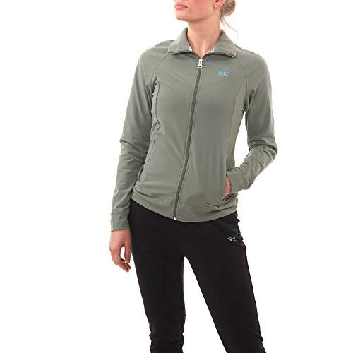 Sportkind Mädchen & Damen Tennis, Fitness, Sport Trainingsjacke, Army, Gr. S