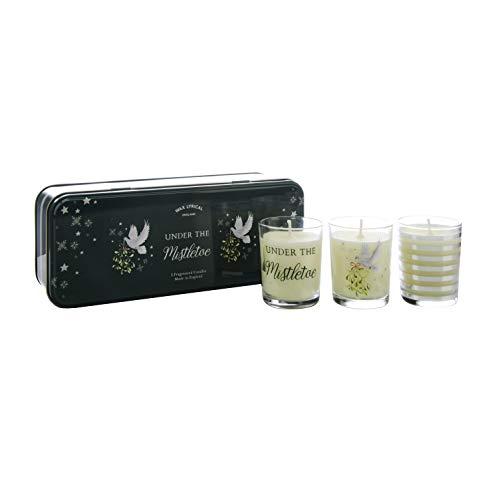 WAX LYRICAL Mistletoe Gift Set, 3 Scented Votive Candles,