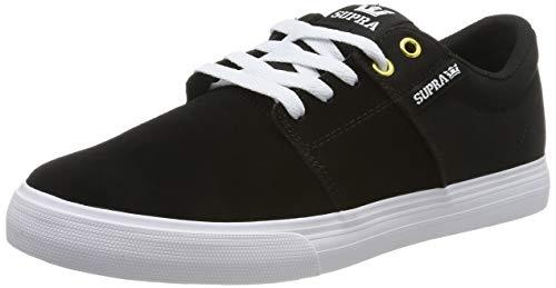 Supra Unisex-Erwachsene Stacks Vulc II Sneaker, Schwarz (Black/Black-White 044), 44 EU