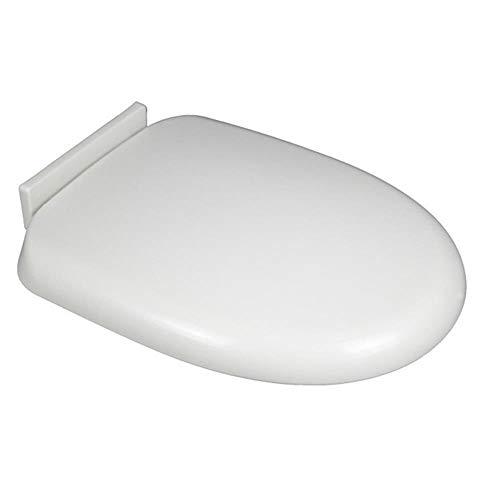 ZLEW Universal Langsam schließender Toilettensitz Runder Toilettensitz mit Bezug PP-Platte Weiß U-förmiger Ersatz-Toilettensitzbezug Haushaltsverdickter Toilettensitz, U-Typ