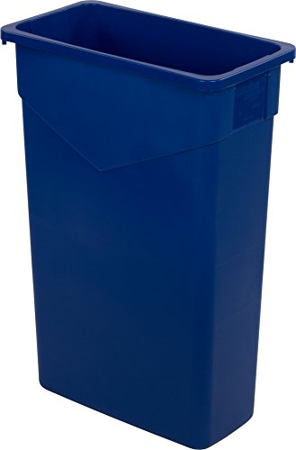 Carlisle 34202314 TrimLine Rectangle Waste Container Trash Can Only, 23 Gallon, Blue (Pack of 4)