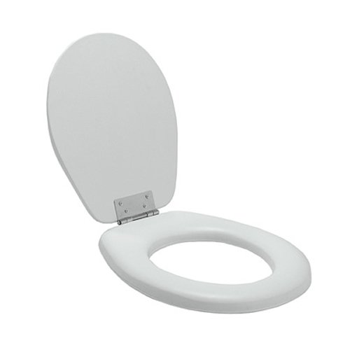 Awesome Online Lumex 6437S007A Padded Commode Seat In White Bralicious Painted Fabric Chair Ideas Braliciousco