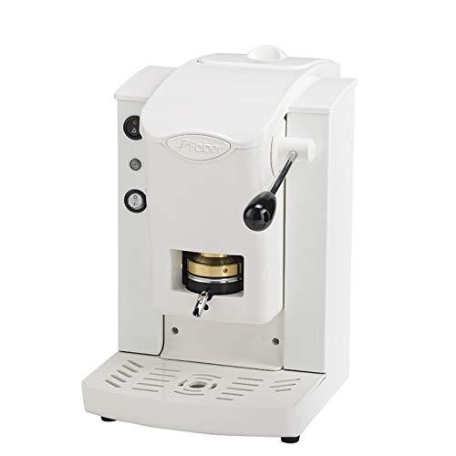 Faber Italia Faber Slot Plast Macchina da Caffè a Cialde 44 MM ESE - PLASTICHE BIANCO Colore Bianca con finiture Grigio + 15 CIALDE EMOZIONI QUOTIDIANE