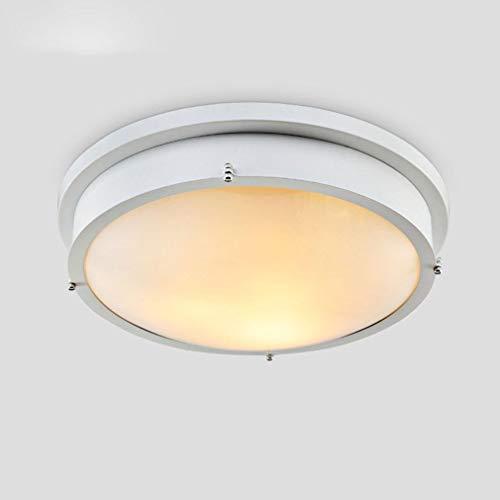 XFZ plafondlamp, modern, lampenkap van ijzerglas, creatief, 3 lampen, wit, rond, voor woonkamer, eetkamer, badkamer, gang, elegant, plafondlamp, E27, max. 60 W, Ø 35 cm x H12