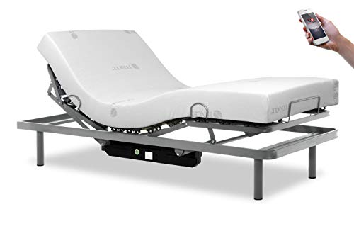 Gerialife® Pack Cama articulada Reforzada 5 Planos con colchón viscoelástico Tencel   Fabricado en España (105x190, Mando inalámbrico)