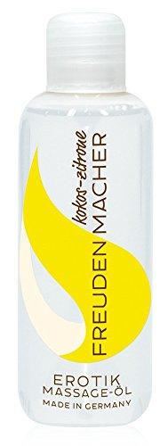ORION Massageöl Freudenmacher 100 ml - Liebesöl für Paare mit Jojoba- und Mandelöl, Erotiköl mit Kokos- und Zitronen-Duft