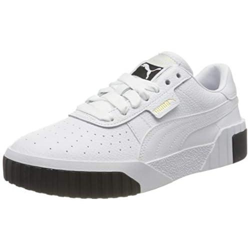 PUMA CALI WN'S Sneaker Donna, Bianco (Puma White-Puma Black 04), 36 EU