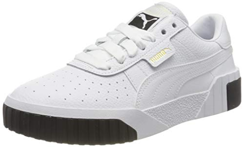 PUMA Women's Low-Top Sneakers, White Black, 7.5 us