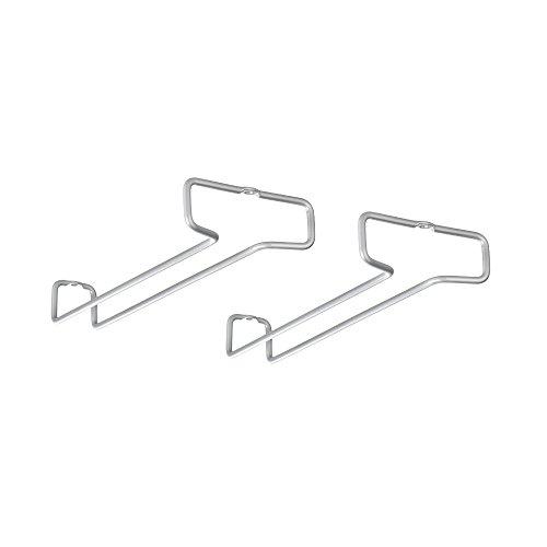 Metaltex 364922039 Rail Weinglashalter 2er Set Polytherm, Beschichtung, grau, 26 x 11 x 4 cm
