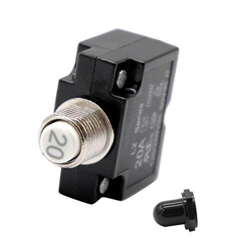 KESOTO 1 STK. 12v-24v Thermischer Leistungsschalter Druckknopf Rückstellbarer 15amp für Automobil, Marine 20amp