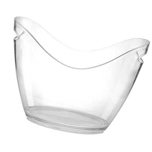 Baoblaze Plastik Sektkühler Sektschale Weinkühler Champagnerkühler Sektkübel Weinkübel - Klar, 4L