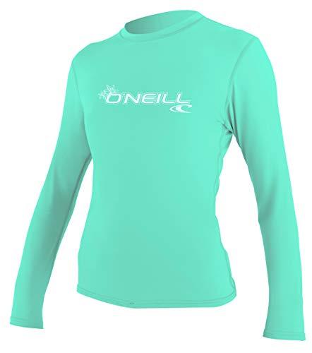 O'Neill Damen Shirt WMS Basic Skins Long Sleeve Sun Shirt, Light Aqua, L, 4340-216-L