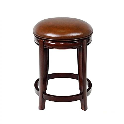 Bar Stool Bar Chair Round Swivel Chair Comfortable Cushion Spa Stool, Salon Dedicated 360 ° Wheel Swivel Swivel 2 Colors (Color : Brown)