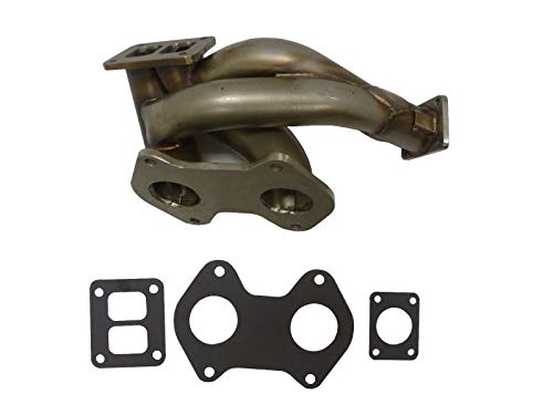 OBX Racing Sports Performance Shorty Turbo Manifold Exhaust Header For 93-95 Mazda RX-7 13B-REW