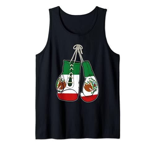Guantes de Boxeo Bandera de México Kickboxer Combat Fighter Camiseta sin Mangas