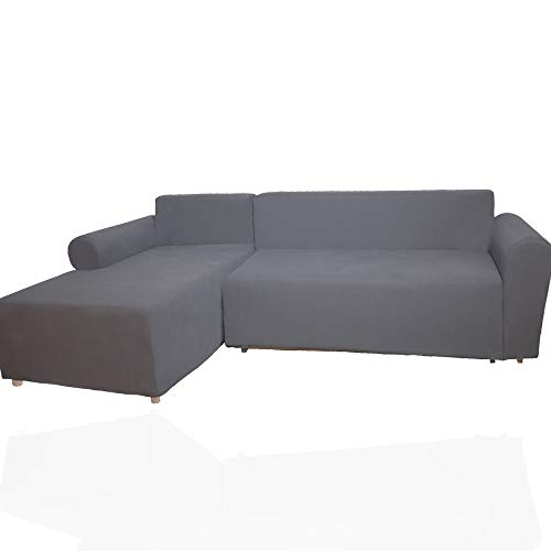 OFLY 2pcs Sectional Couch Covers for L Shaped Sofa, Water Resistant Thicken Napping Super Soft Stretchable Elastic Sofa Cover Oversized Sofa Slipcovers Couch Covers for 3 Cushion Couch