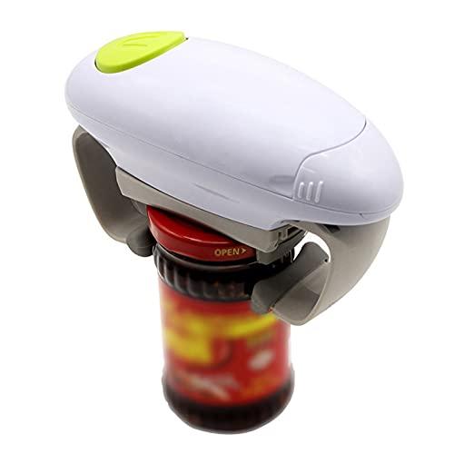 Apriscatole elettrico one touch, apribottiglie automatici per barattoli di vetro senza mani da cucina, apriscatole elettrici per mani artritiche, anziani, mancini