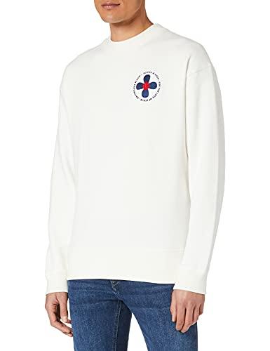 Scotch & Soda Grafik-Sweatshirt aus Baumwolle Sudadera, Off White 0001, XL para Hombre